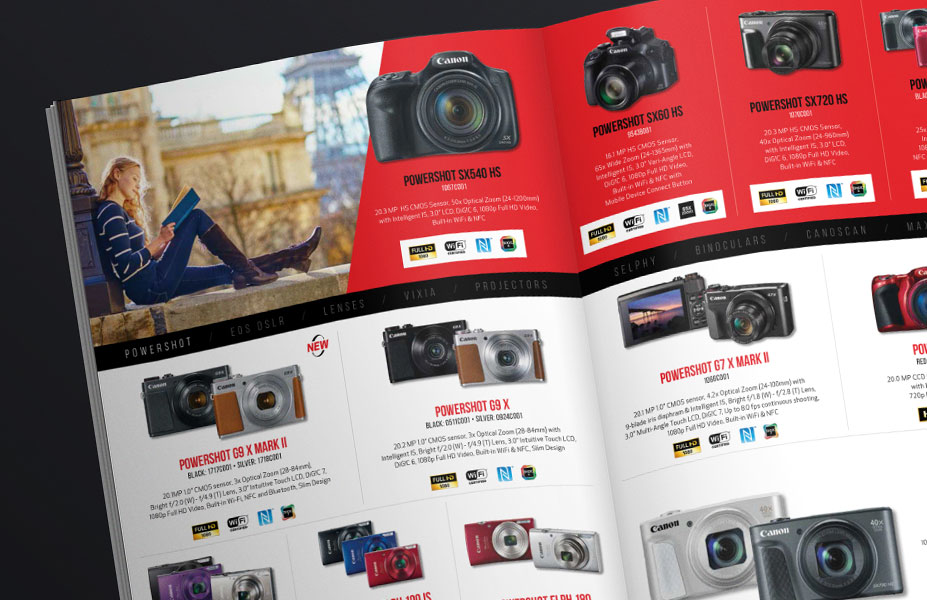 Canon Corporate Gifts Catalog Print Design