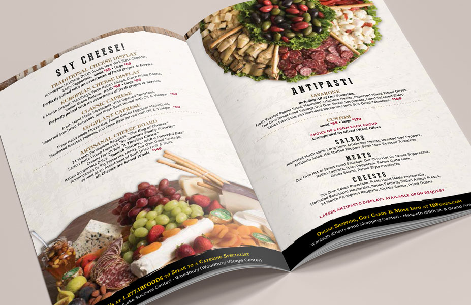 Iavarone Bros. Catering Booklet Design